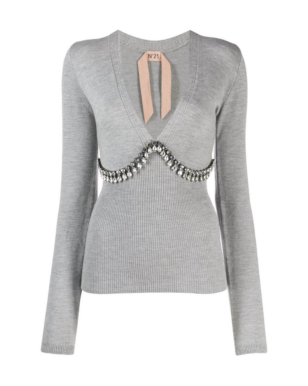 JERSEY Nº21 STRASS Talla 42 Color GRIS