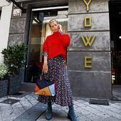 @caarliinaa_ con vestido de @ladoublej ,jersey de @victoriabeckham y botines de @Cleregie para @yoweworld . Visita nuestra tienda online: www.yoweonline.com #fashion #fashionblogger #style#streetstyle #yowe#leonesp #santander